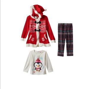 Little Lass hooded cardigan outfit